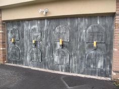 Finally Finished My Crypt Wall for Halloween and our Yard Haunt!