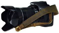 GL003 Olijf Bruine Leren Camerariem