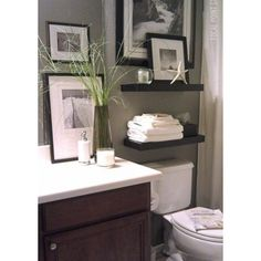 Powder Room book wall shelves Design Ideas, Pictures, Remodel and Decor