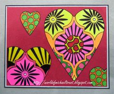 World Of Michael Trent: Stendoodling With A Rubber Stamp - Valentine's Day Card