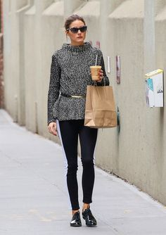 Olivia Palermo shows you how to style your favourite knit! #wefashion