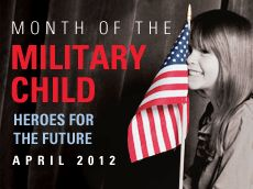 Honoring our Youngest Heroes  Because Military Kids Serve, Too!   Wear purple Friday to support military kids