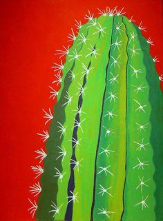 Saguaro Cactus Painting - Saguaro Cactus Fine Art Print