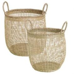 Basket | Seagrass Natural | Large, Medium #worthynzhomeware wwworthy.co.nz