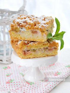 Kruche ciasto z rabarbarem http://najsmaczniejsze.pl/2015/06/kruche-ciasto-z-rabarbarem/ #ciasto #cake #przepi #najsmaczniejsz #food #rabarbar