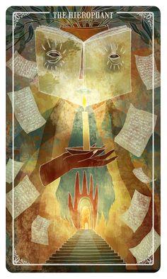 The Hierophant - Ostara Tarot-If you love Tarot, visit me at www.WhiteRabbitTarot.com