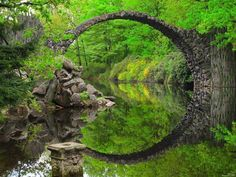 Devil's Bridge Kromlauer Park, Germany