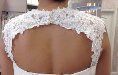 Removable beaded Alencon lace keyhole back #54 by rosemarydesignsbride. Explore more products on http://rosemarydesignsbride.etsy.com
