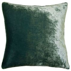 The Velvet throw pillow combines lush texture with understated elegance to create a must-have interior accent. This opulent cushion offers a bold pop of color in a choice of 20 solid hues, perfect for mixing and matching atop stylish beds and sofas. A plush feather fill completes the luxe design. 12in W x 24in H. 20in W x 20in H. 22in W x 22in H. 24in W x 24in H. 26in W x 26in H. Shown in: Peacock. 100% cotton velvet. 95% feather/5% down insert included. Invisible zipper. Spot or dry cle...