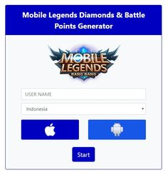 Best new mobile legends hack generator working updated no ban unlimited diamonds generator Miya Mobile Legends, Game Hacker, Castle Clash, Alucard Mobile Legends, Mobile Generator, Android Mobile Games, Legend Games, Cheat Online, Play Hacks