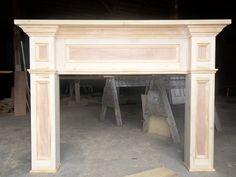 custom fireplace mantels and surrounds | Custom Made Paint- Grade Fireplace Mantel Surround