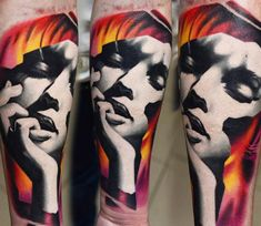 Face tattoo by A.d. Pancho