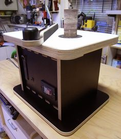 homemade bench top spindle sander - by StudioFormaat @ LumberJocks.com ~ woodworking community
