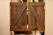 Saloon doors from reclaimed barn wood by Marian Built #reclaimed #barn