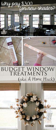 DIY Budget Window Treatments - A Home Hack by Prodigal Pieces | www.prodigalpieces.com