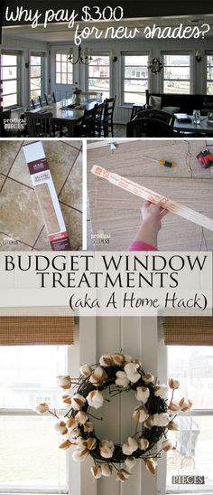 DIY Budget Window Treatments - A Home Hack by Prodigal Pieces | www.prodigalpieces.com