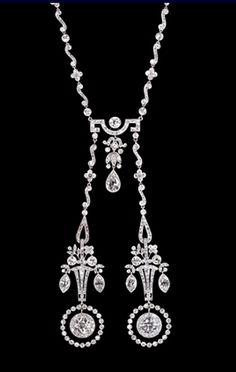c1910 Diamond and Platium Lavalier (Albion)