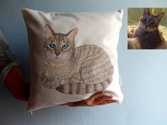 Custom Pet Painting Pillow Cover Full Body Painting dog