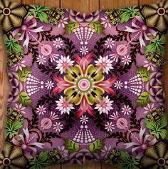 New Catalina Estrada cushions Funky Cushions, Make A Cartoon, Sidewalk Chalk Art, Neon, Butterfly Art, Fractal Art, Fractals, World Of Color, Color Inspiration