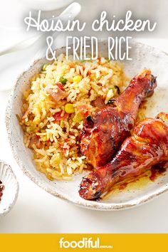 Turn a boring weekday night into a hoisin chicken night. Hoisin Chicken, Chicken Drumsticks, Chicken Rice, Chicken Legs, Moroccan Chicken, Dinner Tonight, Fried Rice, Asian Recipes, Great Recipes