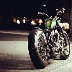 Bobber with Fat Tyres