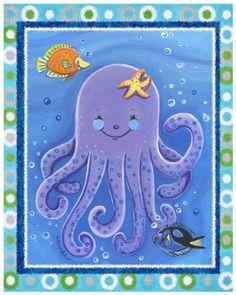 "Sea Life, Ocean Animal Nursery Art Prints (8x10"", Octopus) by Little Pig Studios, http://www.amazon.com/dp/B00B8Z32SI/ref=cm_sw_r_pi_dp_oJLprb1EH6Q7W"