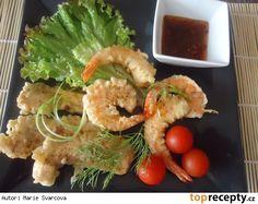 Krevety - garnely v tempuře