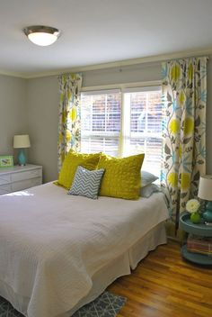 cozy and cheerful with yellow accents