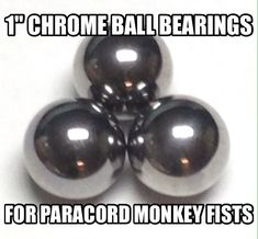 "1"" Chrome Steel Ball Bearings for Paracord Monkey Fists by Stockstill Outdoor Supply"