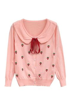 Red Strawberry Pink Cardigan