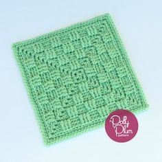 "Don't Fence Me In - free 9"" square crochet pattern and video by Polly Plum at Every Trick on the Hook."