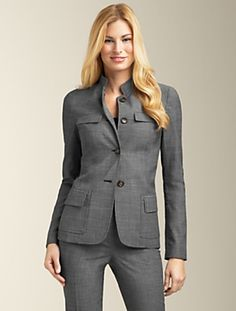 Talbots Grace Fit Cecelia Cross-Dyed Stand-Collar Jacket