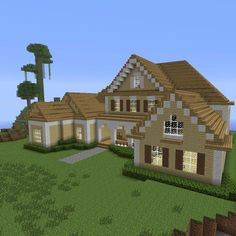 Home inspiration: adorable cool minecraft houses simple easy fresh house blueprints from cool minecraft houses Minecraft Roof, Minecraft Villa, Modern Minecraft Houses, Minecraft Mansion, Minecraft Houses For Girls, Minecraft House Tutorials, Minecraft Houses Survival, Minecraft Houses Blueprints, Minecraft Construction