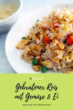 Recipe: fried rice with eggs and vegetables – quick and easy Informations About Rezept: Gebratener Reis mit Ei und Gemüse – einfach und schnell Pin You can easily use my … Easy Meals For Two, Quick Easy Meals, Easy Healthy Recipes, Vegetarian Recipes, Fried Rice With Egg, Arroz Frito, Rice Recipes For Dinner, Dessert Recipes, Le Diner