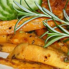 Baked sweet potato wedges are tossed in a rosemary and olive oil blend creating a colorful and tasty side dish. Baked Sweet Potato Wedges, Sweet Potato Oven, Sweet Potato Recipes, Whole Food Recipes, Cooking Recipes, Healthy Recipes, Vegetarian Recipes, Vegetable Dishes, Vegetable Recipes