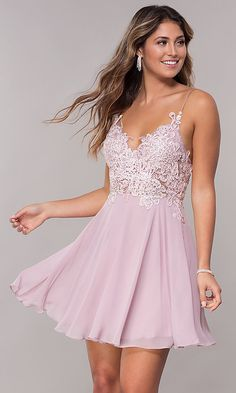 Lace bodice dresses - New Women's Lace Bodice Spaghetti Strap Homecoming Dresses Short ALine Backless Chiffon Formal Party Gowns online shopping – Lace bodice dresses Hoco Dresses, Homecoming Dresses, Pretty Dresses, Dress Prom, Short Formal Dresses, Bridesmaid Dresses, Chiffon Dresses, Elegant Dresses, Junior Prom Dresses Short