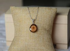 Organic natural shape wooden pendant sterling by MyPieceOfWood