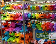 Multi-Colored Elmo!!! via wonderful world of color