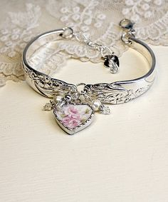 "A beautiful ""recycled spoon"" bracelet from cupid's charm.  LOVE her stuff!"