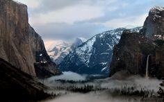 Cathedral Rocks.  Yosemite, Ca
