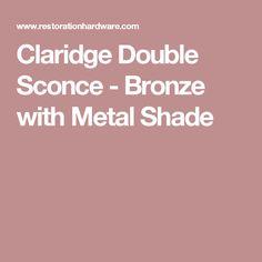 Claridge Double Sconce - Bronze with Metal Shade