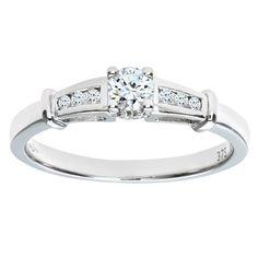 Traumhafter Ring mit echtem Diamant <3 Damen-Verlobungsring 9 Karat (375) Weißgold Gr. 59 (18.8)  1 Diamant PR5478WO