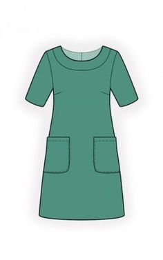 Simple Dress - Sewing Pattern #4517