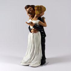 Profissões / Caricaturas - Noivos topo de bolo casamento - Bau da Cravus