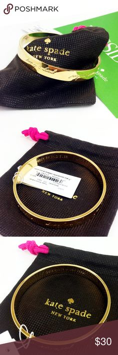 "Kate Spade idiom bracelet best friend ever gold NWT Kate Spade idiom bangle bracelet - best friend ever    ● 8"" inner circumstance, 2.5"" diameter   ● 3/8"" wide   ● Retail for $32.00 + tax   ● 14k gold plated  Brand new with pouch, no gift box.  Great gift, Early shopping for Christmas!!!                Please check my store for other color and styles!! kate spade Jewelry Bracelets"