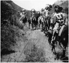 Ute Indians on the Trail ~ Near Manitou Springs Colorado ~ 1912