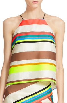MILLY Fluorescent Stripe Camisole. #milly #cloth #