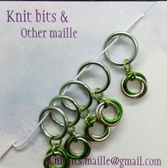 Stitch Markers, Knitting Stitches, Different Colors, Handmade Items, Jewels, Nerdy, Etsy Shop, Green, Accessories