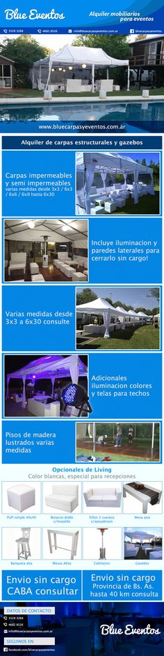 Alquiler De Carpas Gazebos Calefaccion Living - Capital Federal - $ 450,00 en Mercado Libre