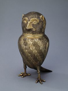 Goblet Shaped Like an Owl Poland, 1720s The Hermitage Museum - Found via OMG that Artifact!
